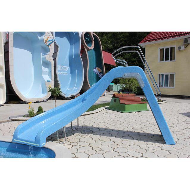 Водная горка Franmer с поворотом влево, высота 1.7 метра, нагрузка 250 кг