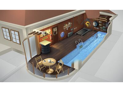 Плавательная дорожка SwimTrack – готовое решение для гаража!