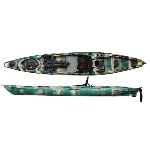 Каяк одноместный Feelfree «Moken 14 Angler/Rudder» Forest Camo, размер 448 × 78 см, грузоподъёмность 196 кг