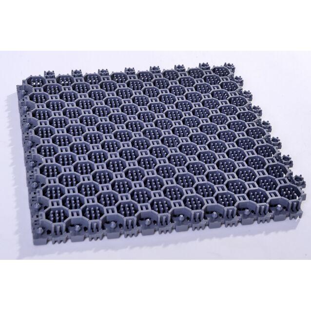 Напольное грязезащитное ПВХ-покрытие Optima Duos, размер 250 × 250 × 16 мм