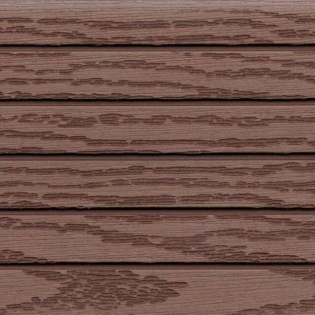 Террасная доска Terrapol КЛАССИК 1281 «Орех Милано» Кантри, пустотелая с пазом