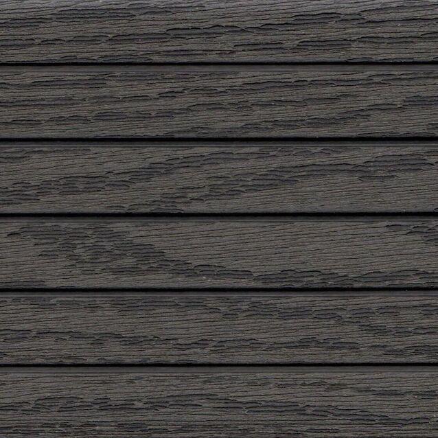 Террасная доска Terrapol КЛАССИК 1901 «Чёрное дерево» Кантри, пустотелая с пазом