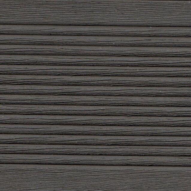 Террасная доска Terrapol КЛАССИК 1901 «Чёрное дерево» Палуба, пустотелая с пазом