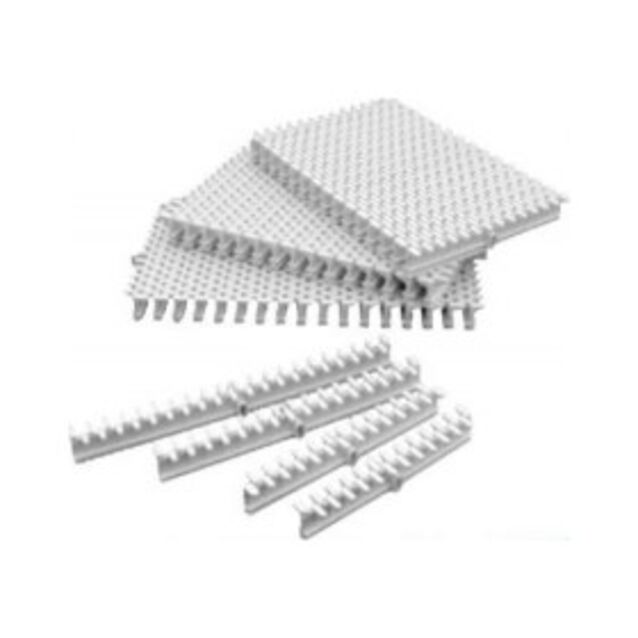 Переливная решётка Aquant 02050303. с центральным соединением, серо-белая, 300 × 22 мм