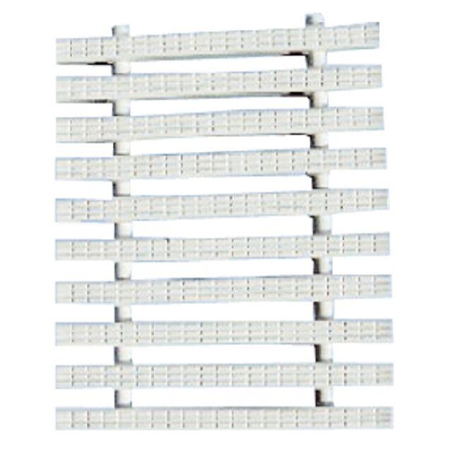 Переливная решетка Classic с центральным соединением 195x25 мм (белая)