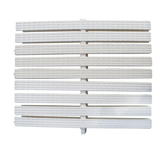 Переливная решетка Classic с двойным соединением 245x25 мм (белая)