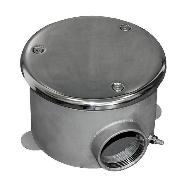 """Донный слив Runvil P4-01, круглый, с антивихревой крышкой, Ø 160 × 100 мм, 20 м³/час, под плитку, подключение Ø 2"""" дюйма (внутренняя резьба)"""