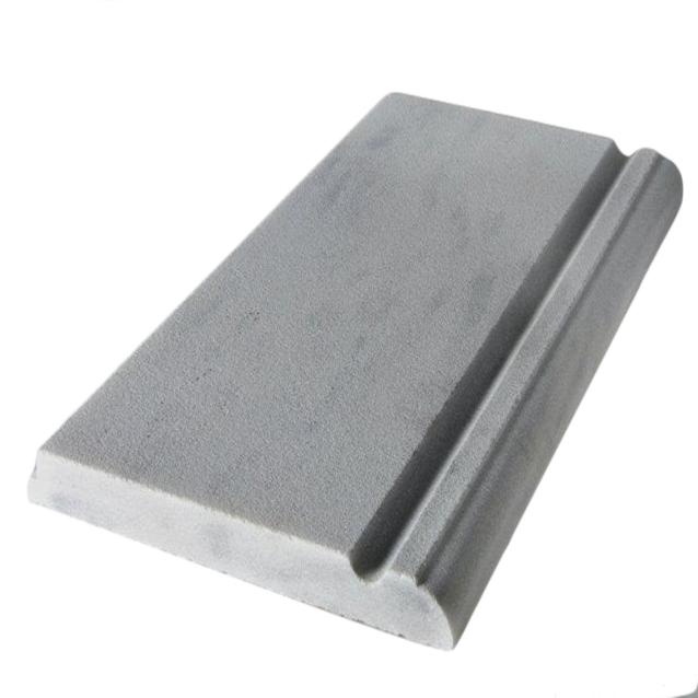 Бортовая плита Sofikitis «Kavala» KVA2 стартовая, из мрамора. С поручнем и ступенькой, 610 × 210 × 30 мм