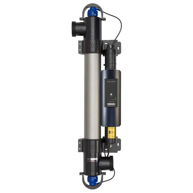 Ультрафиолетовая установка Elecro «H.R. UV-C E-PP2-55». Мощность ламп 55 Вт, макс. поток 12 м³/час, подключение Ø 63/50 мм, для бассейнов до 50 м³