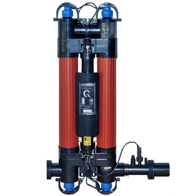 Ультрафиолетовая установка фотокаталитическая Elecro «Quantum Q-130-EU». Мощность ламп 110 Вт, макс. поток 28 м³/час, подключение Ø 63/50 мм, для бассейнов до 130 м³