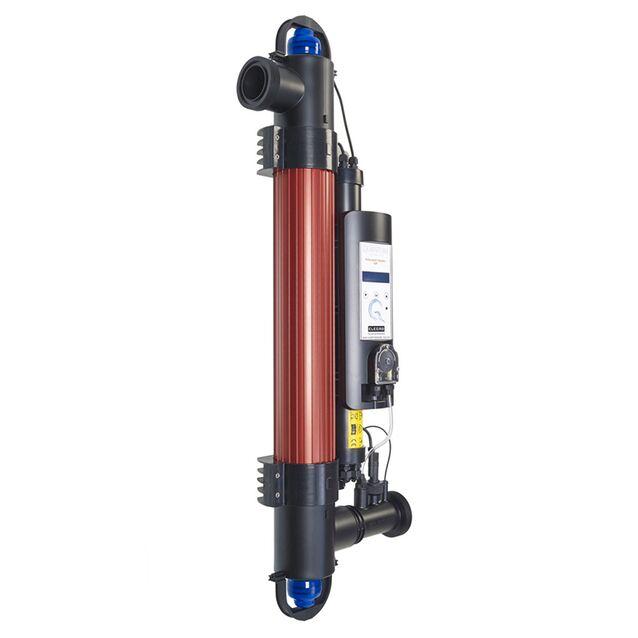 Ультрафиолетовая установка фотокаталитическая Elecro «Quantum QP-65-EU» с дозирующим насосом. Мощность ламп 55 Вт, макс. поток 14 м³/час, подключение Ø 63/50 мм, для бассейнов до 65 м³
