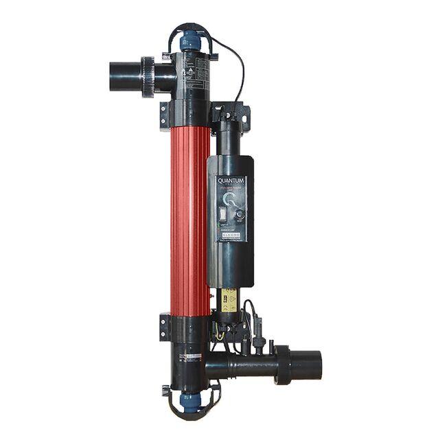 Ультрафиолетовая установка фотокаталитическая Elecro «Quantum Q-65-UK». Мощность ламп 55 Вт, макс. поток 14 м³/час, подключение Ø 63/50 мм, для бассейнов до 65 м³
