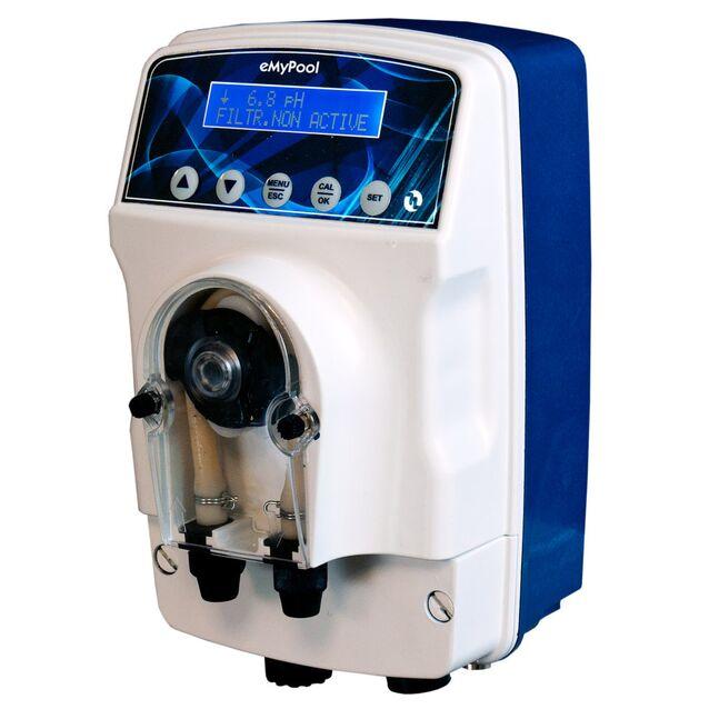 Станция дозирования и контроля Etatron CXB4000301ER «eMyPool pH», 1.5 л/час - 1.5 бар, до 150 м³. Перистальтический насос со встроенным контроллером уровня pH с поддержкой датчика уровня