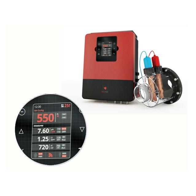 Система для дезинфекции воды Sugar Valley «Hidroniser» AQ 400. с ионизацией Cu/Ag и датчиками контроля Ph/Rx,  до 400 м³