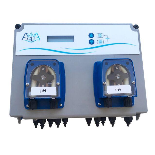 Система перистальтических дозирующих насосов AquaViva «KPWP1XMK1000» PH+RX 1.5 л/час + Измерительный набор, 2 шт.