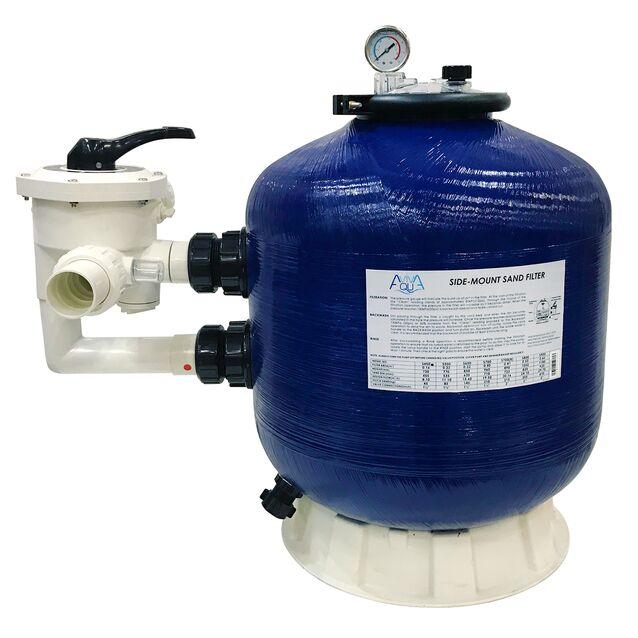 Фильтр песочный Aquaviva S450, загрузка песка 45 кг, боковое подключение Ø 1.5 дюйма, 8.1 м³/час, Ø 450 мм