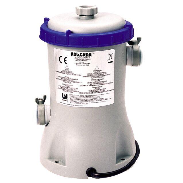 Фильтрационная установка картриджная Bestway «Flowclear» 58383, насос 0.45 кВт, 220 Вольт, IPX7, 2 м³/час