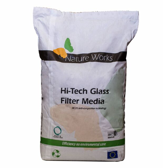 Стеклянный фильтрующий наполнитель ESPA «Nature Works», фракция 0.6 - 0.8 мм (мешок 20 кг)