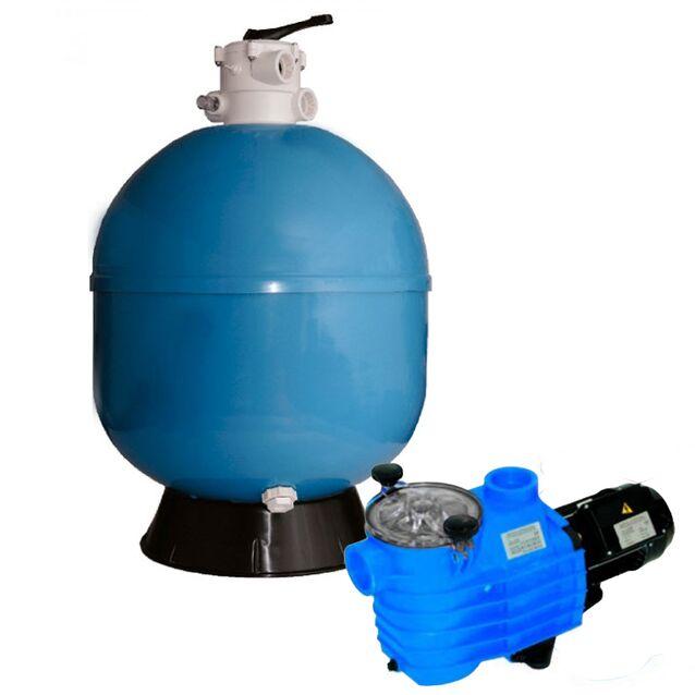 Фильтрационно-насосная установка песочная Fiberpool «VASO» ZVTFN400-33, загрузка песка 50 кг, насос 0.44 кВт, 220 Вольт, 6 м³/час, Ø 400 мм