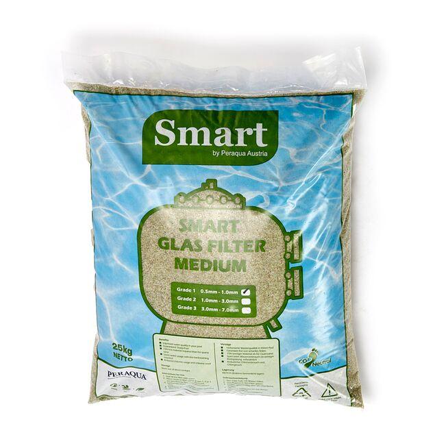 Стеклянный фильтрующий элемент Peraqua «Smart Glas Filter Medium» фракция 1.0 - 3.0 мм (мешок 25 кг)