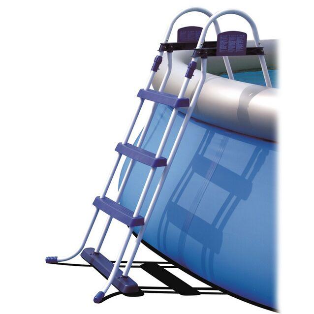 Лестница-стремянка Bestway 58044/FR «Pool Ladder» усиленная. Высота 107 см, три ступени, без площадки, допустимая нагрузка 150 кг