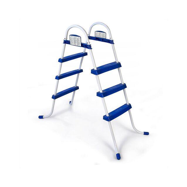 Лестница-стремянка Bestway 58044 «Pool Ladder». Высота 107 см, три ступени, без площадки, допустимая нагрузка 150 кг