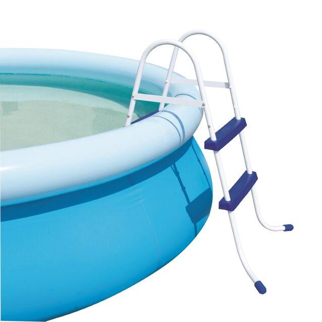 Лестница-стремянка Bestway 58046 «Pool Ladder». Высота 76 см, две ступени, без площадки, допустимая нагрузка 150 кг