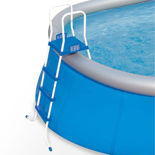 Лестница-стремянка Bestway 58097 «Pool Ladder». Высота 122 см, три ступени, с площадкой, допустимая нагрузка 150 кг