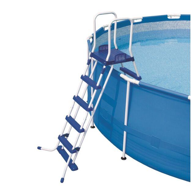 Лестница-стремянка Bestway 58160/FR «Pool Ladder» усиленная. Высота 132 см, четыре ступени, с площадкой, допустимая нагрузка 150 кг