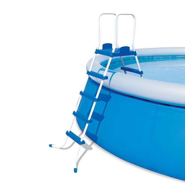 Лестница-стремянка Bestway 58160 «Pool Ladder». Высота 132 см, четыре ступени, с площадкой, допустимая нагрузка 150 кг