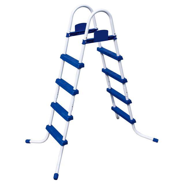 Лестница-стремянка Bestway 58336 «Pool Ladder». Высота 122 см, четыре ступени, без площадки, допустимая нагрузка 136 кг