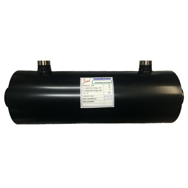 Теплообменник Runvil «P8-04.1», 120 кВт. Корпус AISI-304, подключение Ø 63 мм, 2 дюйма