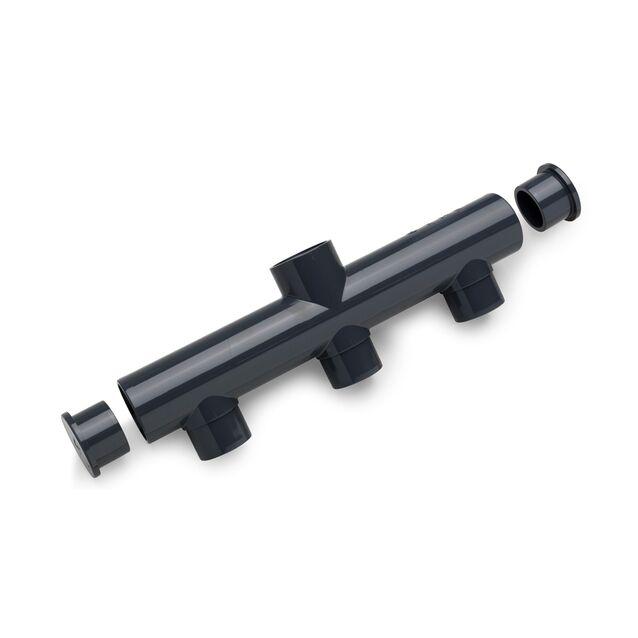 Коллектор ПВХ клеевой Plimat, «грабли», 63 мм, PN16