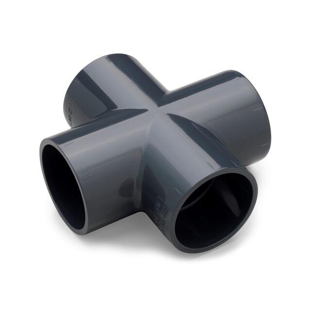 Крестовина ПВХ клеевая Plimat, 32 мм, PN16