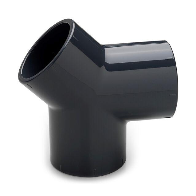 Тройник ПВХ клеевой Y-образный Plimat, 63 мм, PN16