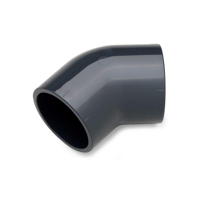 Угол ПВХ клеевой Plimat, 45°/125 мм, PN16