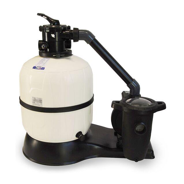 Фильтрационная установка песочная AQUA Industrial Group «AQUARIUS PLUS» 100100979, загрузка песка 150 кг, насос 0.75 кВт, 220 Вольт, 14 м³/час, Ø 620 мм
