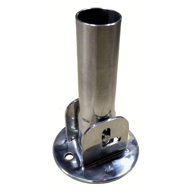 Стакан для крепления лестницы, адаптер откидной Runvil P6-01.1, Ø 40 мм