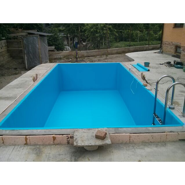 Бетонный бассейн «ОПТИМА», размер 6 × 3.18 × 1.5 м