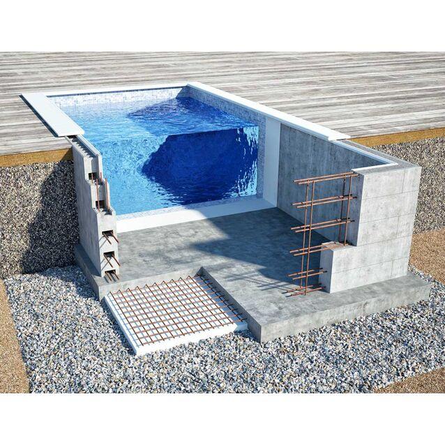 Бетонный бассейн «ОПТИМА», размер 7 × 3.18 × 1.5 м