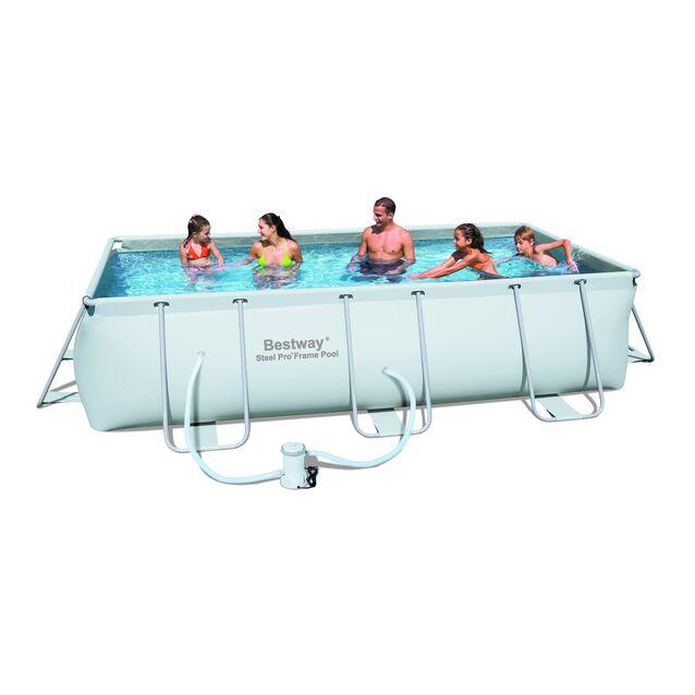 Каркасный бассейн Bestway 56251 «Steel Pro Frame», фильтр картриджный, размер 404 × 201 × 100 см