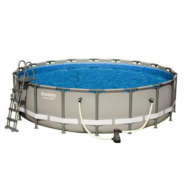 Каркасный бассейн Bestway 56427/56232, фильтр картриджный, лестница, подстилка, тент, размер 549 × 132 см