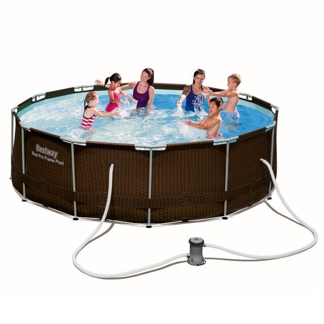 Каркасный бассейн Bestway 56594 «Steel Pro Frame», фильтр картриджный, размер 366 × 100 см