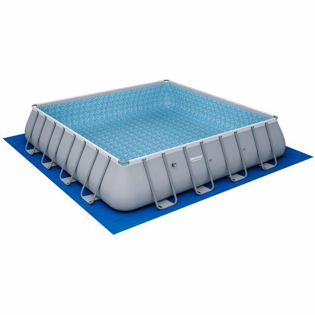 Каркасный бассейн Bestway 56626 «Power Steel», фильтр картриджный, подложка, лестница, тент, размер 488 × 122 см