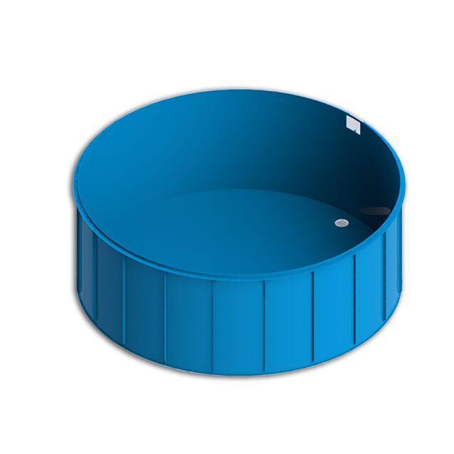 Полипропиленовый бассейн Полимер Интеграция «Ready», диаметр Ø от 1.5 до 3 метров, глубина 1.5-1.7 метра, круглый