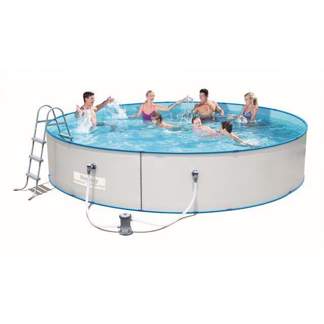 Сборный бассейн Bestway 56386 «Hydrium Splasher Pool», фильтр картриджный, лестница, размер 460 × 90 см