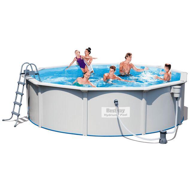 Сборный бассейн Bestway 56382 «Hydrium Pool Set», фильтр картриджный, лестница, подстилка, размер 460 × 120 см