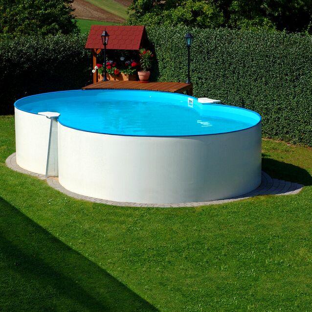 Сборный бассейн Summer Fun Exklusiv «8-Form» 4501000525KB, размер 470 × 300 × 120 см