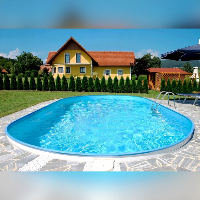Сборный бассейн Summer Fun Exklusiv «Oval» 4501010251KB, размер 623 × 360 × 120 см