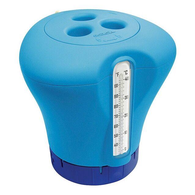 Плавающий дозатор с термометром Kokido K619BU/Blue, цвет голубой